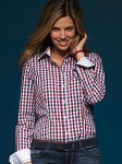 Damska koszula w kratę James Nicholson Ladies` Checked Blouse