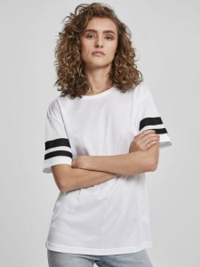 Damski t-shirt Build Your Brand Mesh Stripe Tee