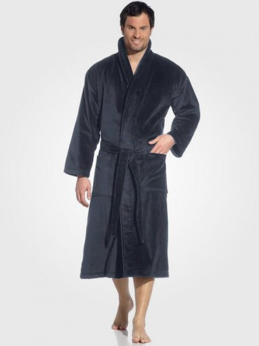 Szlafrok welurowy męski Vossen Feeling with Shawl collar XF011 kolor Flanell